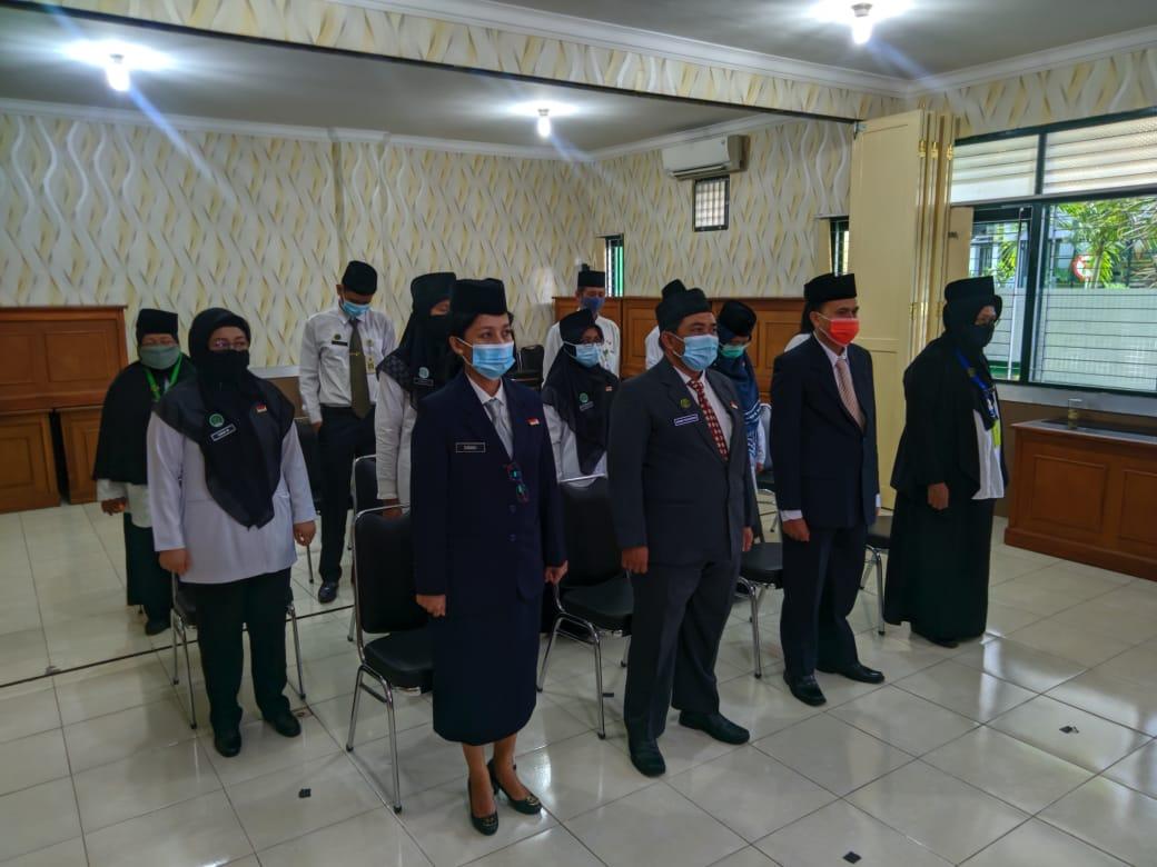Suasana Pelantikan Dinas Pertanahan dan Tata Ruang Kota Yogyakarta Tahun 2021
